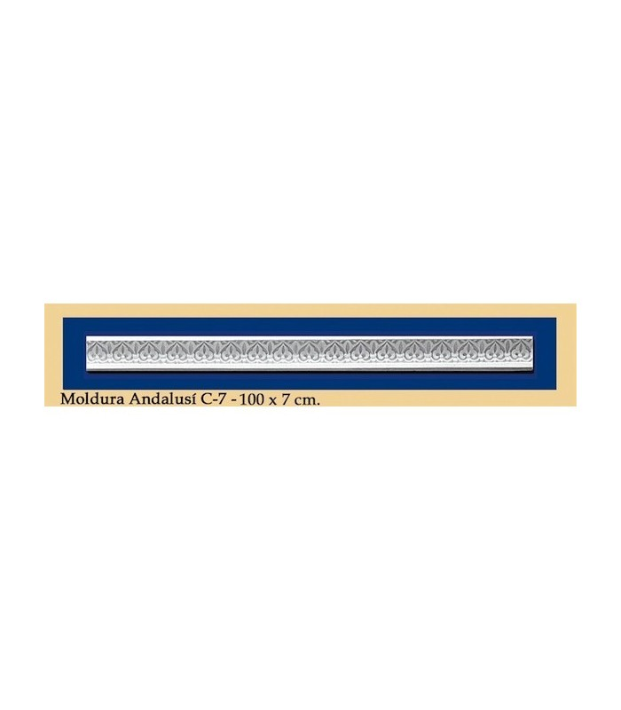 Trim Andalusi - Plaster - 100 x 7 cm