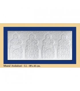 Andalusische Wand - Putz - 89 x 41 cm