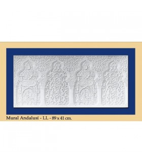 Andalusian wall - Plaster - 89 x 41 cm
