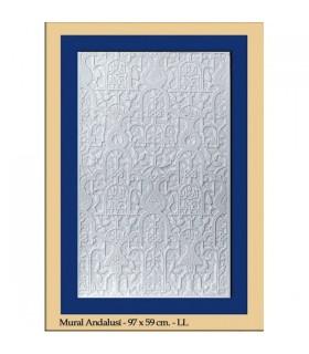 Andalusische Wand - Putz - 97 x 59 cm