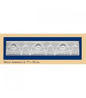Parede andaluz - gesso - 77 x 30 cm
