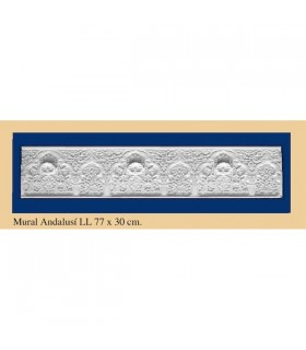 Andalusian wall - Plaster - 77 x 30 cm