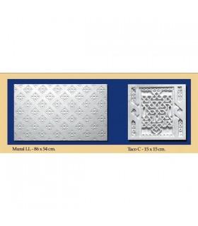 Andalusische Wand - Putz - 86 x 54 cm