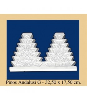 Pine Andalusi - Plaster - 32.5 x 17.5 cm