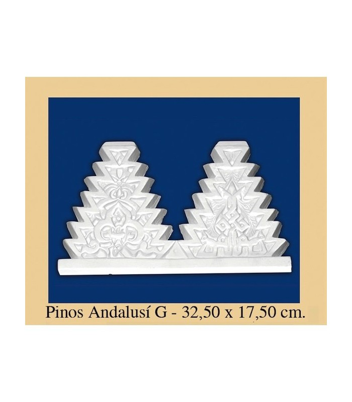Pine Andalusi - Plaster - 32.5 x 17.5 cm