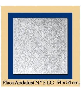 Placa Andalusi - gesso - 54 x 54 cm