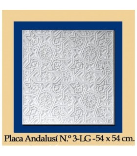 Plate Andalusi - Plaster - 54 x 54 cm