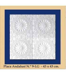 Platte Andalusi - Putz - 43 x 43 cm