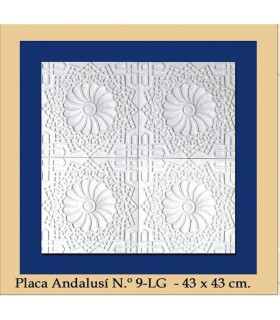 Plate Andalusi - Plaster - 43 x 43 cm
