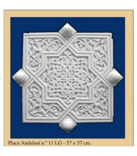 Plate Andalusi - Plaster - 57 x 57 cm