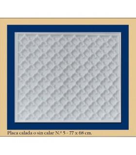 Placa Andalusi - gesso - 77 x 68 cm