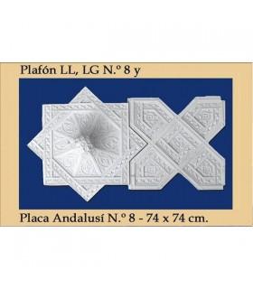 Plafón andalouse - plâtre - 74 x 74 cm