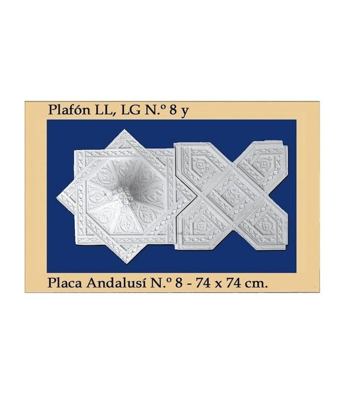 Plafon Andalusi - Escayola - 74 x 74 cm