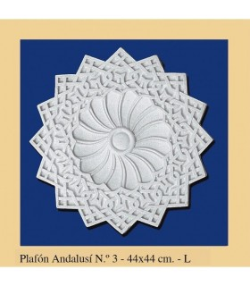 Andalusian Plafón - plaster - 44 x 44 cm