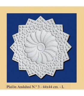 Plafón andalouse - plâtre - 44 x 44 cm
