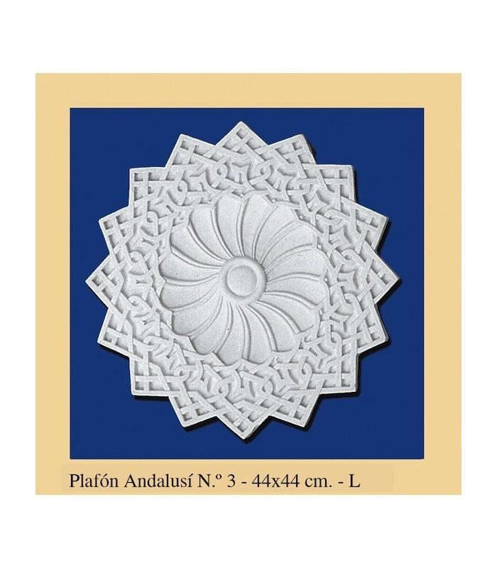 Plafon Andalusi - Escayola - 44 x 44 cm