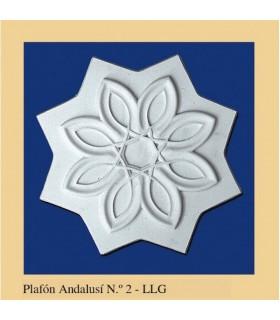 Plafón andalouse - plâtre - 25 x 25 cm