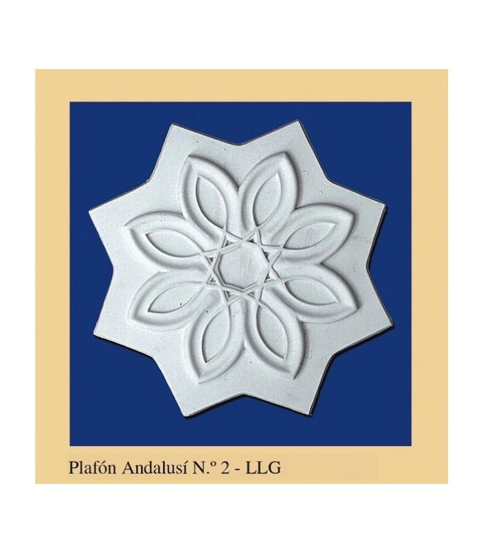 Plafon Andalusi - Escayola - 25 x 25 cm