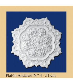 Plafón andalouse - plâtre - 4 x 51 cm