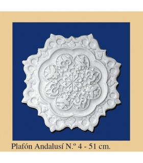 Plafón andaluz - gesso - 4 x 51 cm