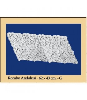 Losange Andalusi - plâtre - 62 x 43 cm