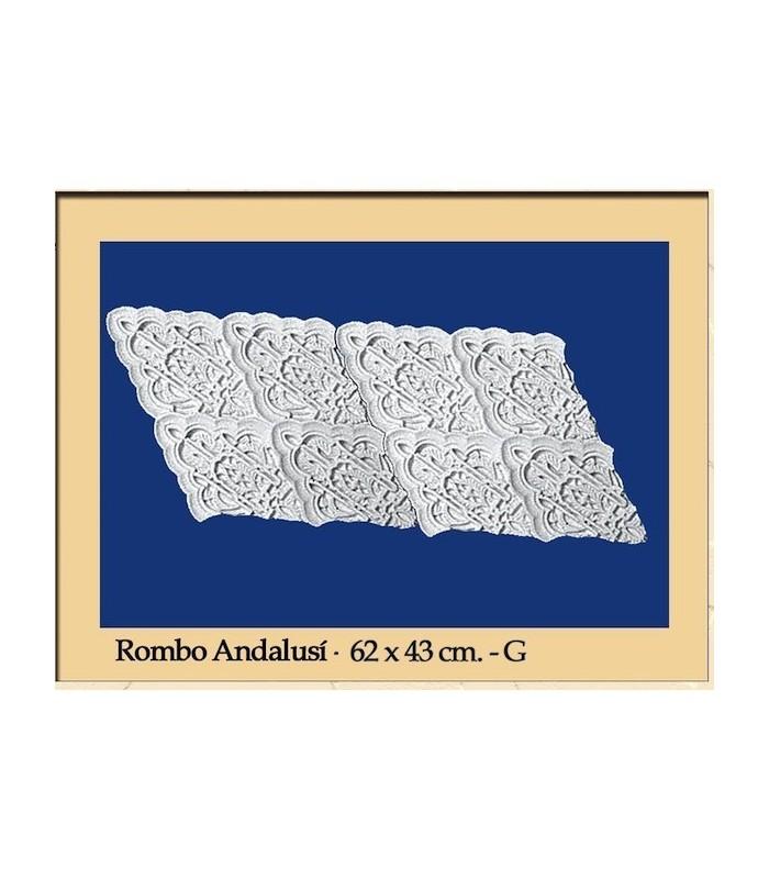 Rhombus Andalusi - Plaster - 62 x 43 cm