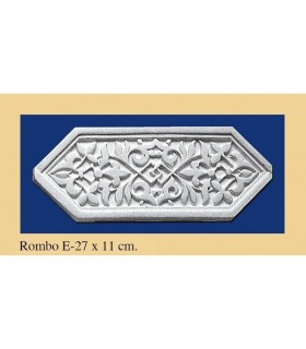 Rhombus Andalusi - Plaster - 27 x 11 cm