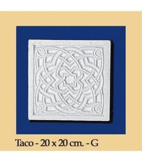 Taco Andalusi - Escayola - 20 x 20 cm