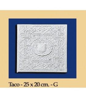 WAD Al-Andalus - plâtre - 25 x 20 cm