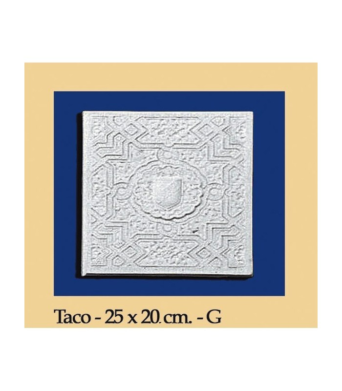 Taco Andalusi - Escayola - 25 x 20 cm