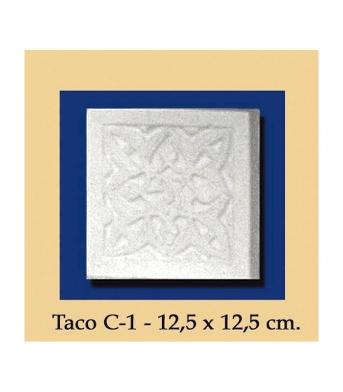 Taco Andalusi - Escayola - 12.5 x 12.5 cm
