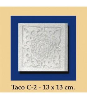 Taco Andalusi - Escayola - 13 x 13 cm