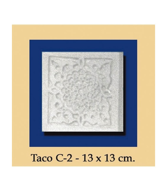 Wad Al-Andalus - plaster - 13 x 13 cm