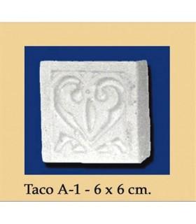 Taco Andalusi - Escayola - 6 x 6 cm
