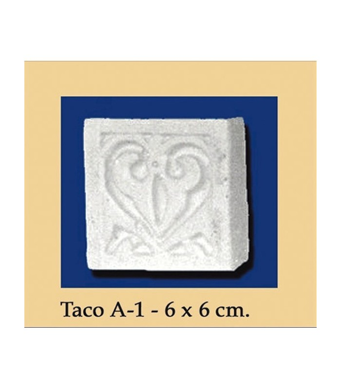 Wad Al-Andalus - plaster - 6 x 6 cm