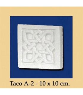 WAD Al-Andalus - plâtre - 10 x 10 cm