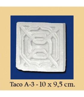 Taco Andalusi - Escayola - 10 x 9.5 cm