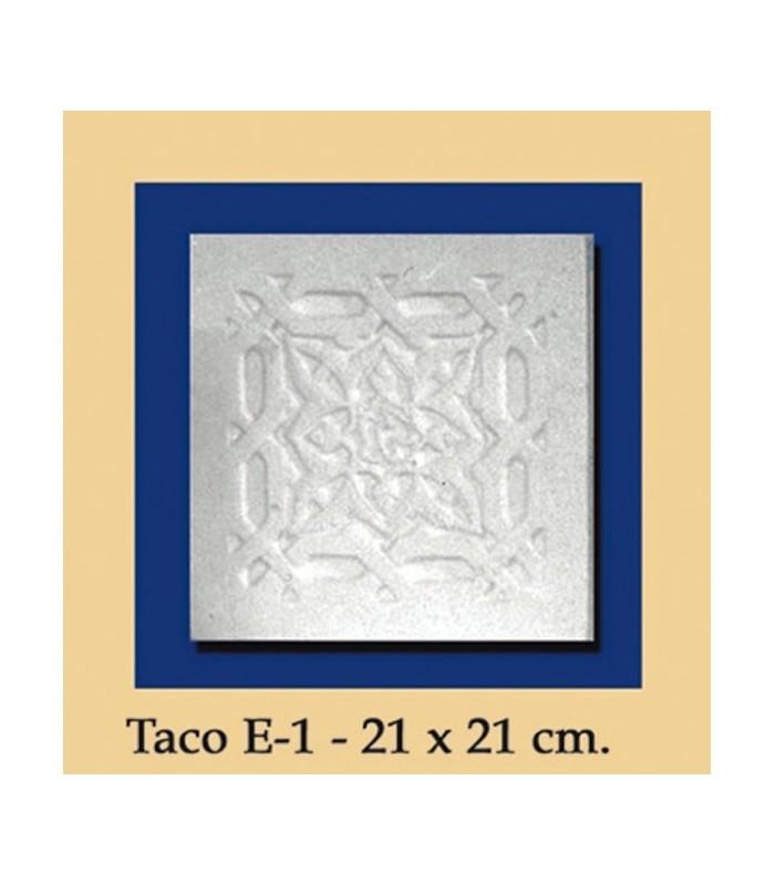 Taco Andalusi - Escayola - 21 x 21 cm