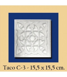 Wad Al-Andalus - It plaster - 15.5 x 15.5 cm