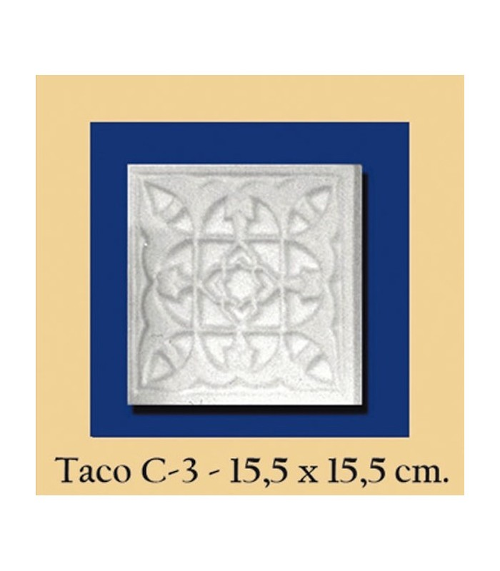 Taco Andalusi - Escayola - 15.5 x 15.5 cm