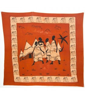 Índia-Tela Cotton-tribal Casa-Artisan-210 x 245 cm