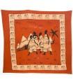 Tela Algodon-India- Tribu Pueblo -Artesana-210 x 245 cm