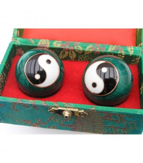 Chinese balls relaxation - box cover decorated - various colors