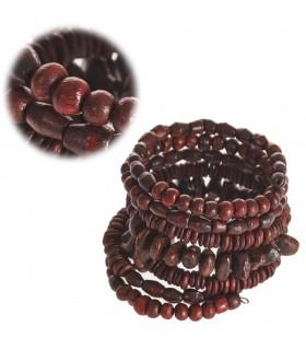 Bracelet Bois Printemps - Multicolore