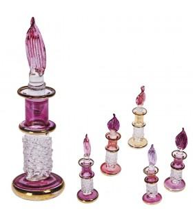 Perfumero Artesano Cristal - Diseño Relieves - 8 cm