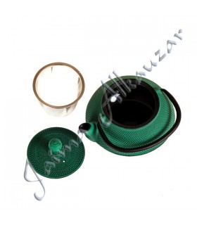 Bule de ferro fundido - grande qualidade - Filtro - 0,6 L Cores