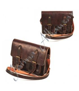 Кожаный портфель документов - 4 отсека - 28 см
