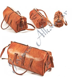 Travel Duffle Leather - Handmade - Travel Case - 3 Sizes