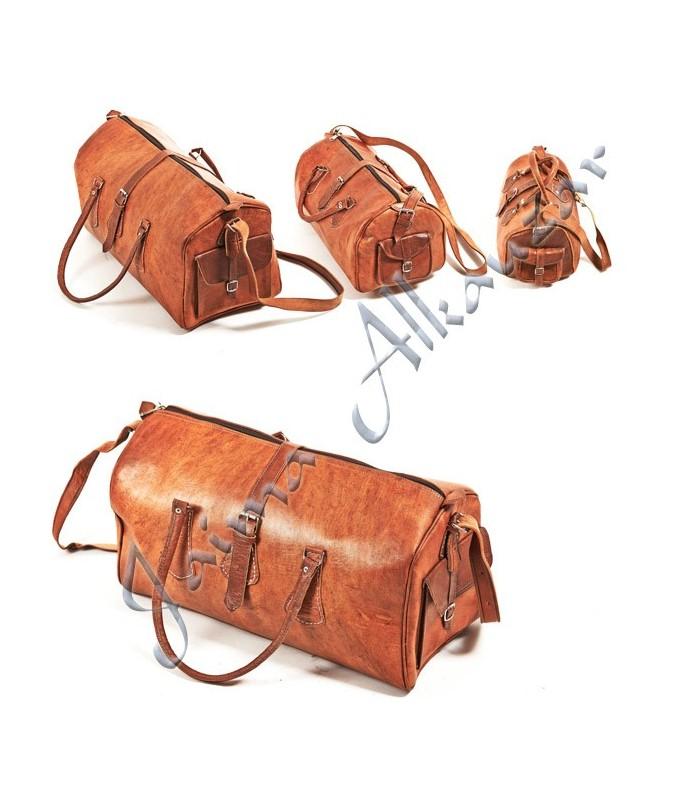 Travel Duffle Leather - Handmade - Travel Case - 3 Sizes