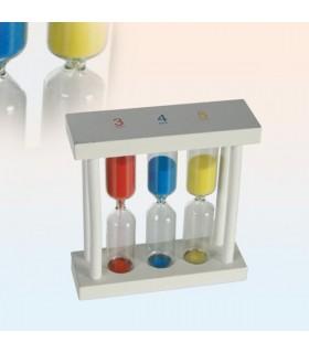 Reloj de Arena Blanco - 1, 3 y 5 min - Arena Colores - 10 cm